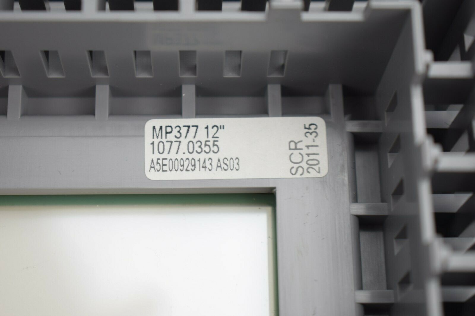 """6AV6644-0AB01-2AX0 Siemens simatic MP377 15/"""" TOUCH Front cover A5E00929150 C"""