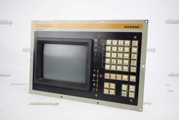 """Siemens Sinumerik 3T/TT 4B/4C Bedientafel mit 9"""" Monitor 6FC3888-5MB inkl. 6FX1125-7AA02"""